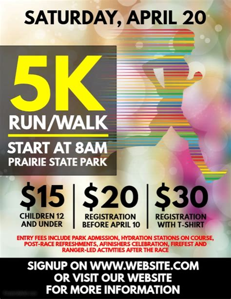 5k flyer template 5k run flyer template postermywall