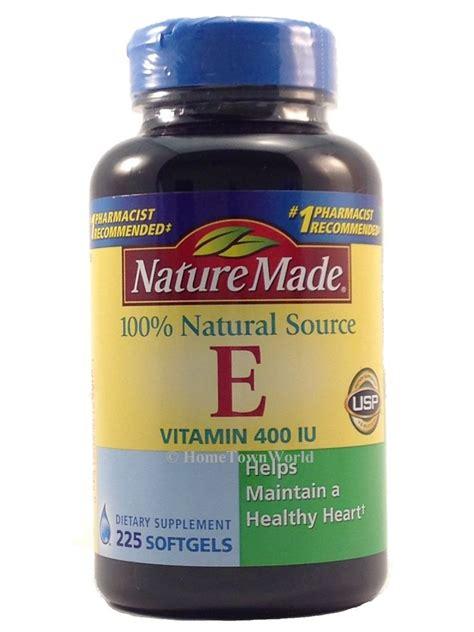 Vitamin E Natur E Nature Made Vitamin E 400 Iu 225 Softgels Unisex