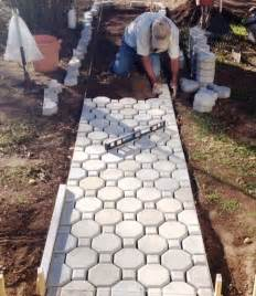 Patio Molds Concrete Pavers Keyhole Interlocking Driveway Paver Moulds 18 2 Edges Free Make 1000s Of Pavers Ebay