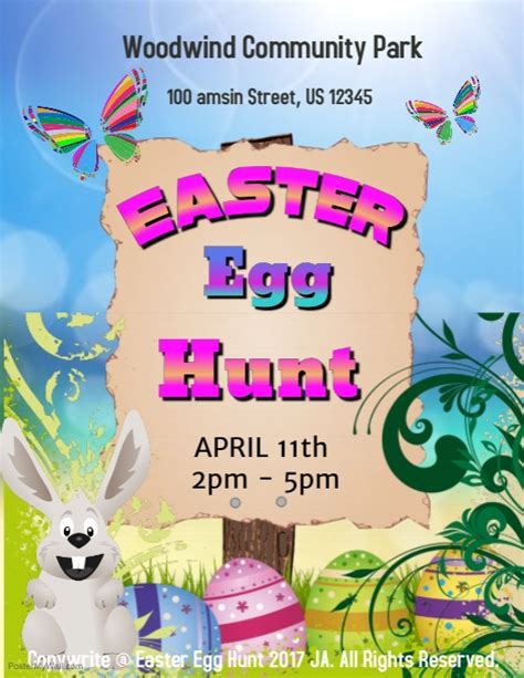 easter egg hunt template postermywall