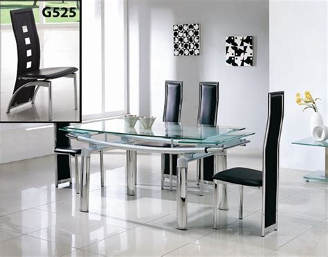 Extendable Glass Dining Table And Chairs Delta Extending Glass Dining Table Dining Table And Chairs Dining Sets
