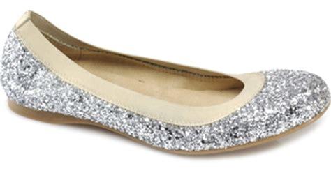 Flat Gliter Silver Rainbow stuart weitzman lastikon silver glitter ballet flat in metallic lyst