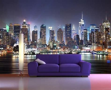 skyline wallpaper bedroom colour new york skyline wallpaper home garden
