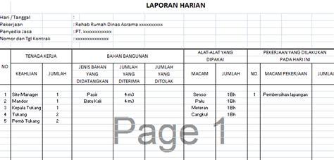 format absensi karyawan harian proyek contoh format laporan kerja mingguan contoh m