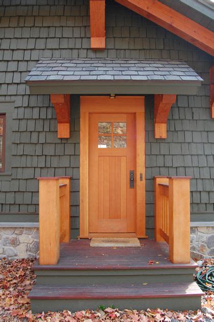 small timbered overhang offers protection