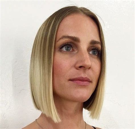 blonde bob middle part 50 spectacular blunt bob hairstyles