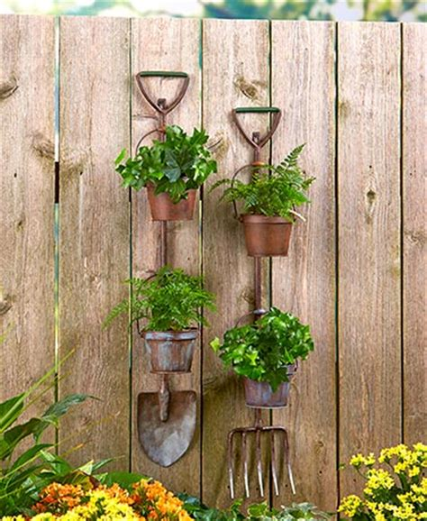 Planting The Chic In Cheap by Rustic Garden Tool Planters The Lakeside Collection