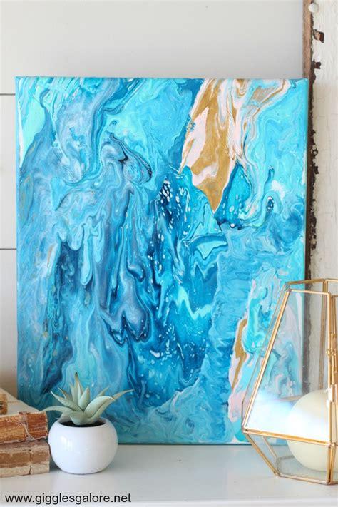 acrylic painting pour acrylic pour fluid canvas