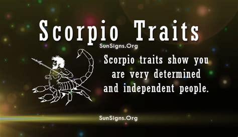 scorpio personality traits characteristics sun signs