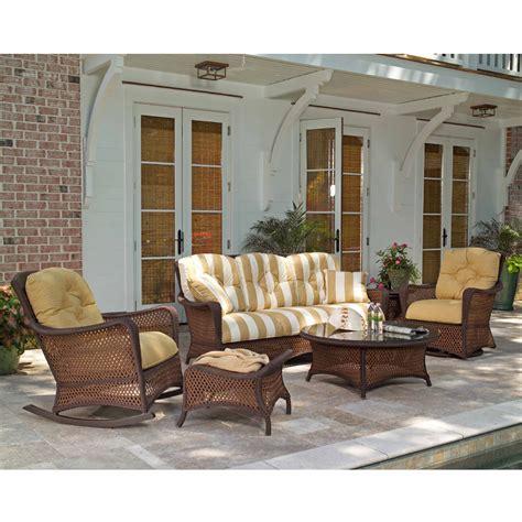 lloyd flanders patio furniture lloyd flanders grand traverse woven vinyl ottoman 71917