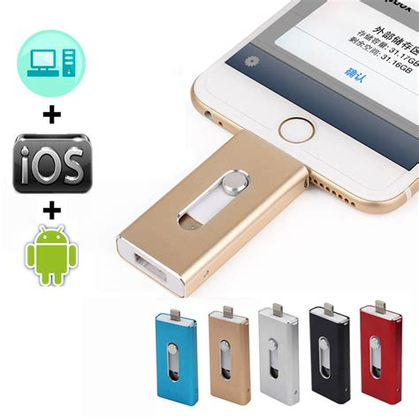 Flash Drive Device Otg For Iphone 5 6 5s 6s otg usb flash drive for iphone 6 6 plus 5 5s metal