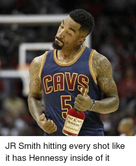 Jr Smith Meme - chw hennessy jr smith hitting every shot like it has