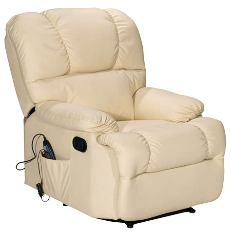 heated recliner recliner massage sofa chair deluxe ergonomic lounge couch
