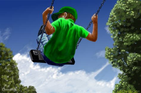person on swing boy on a swing a people speedpaint drawing by