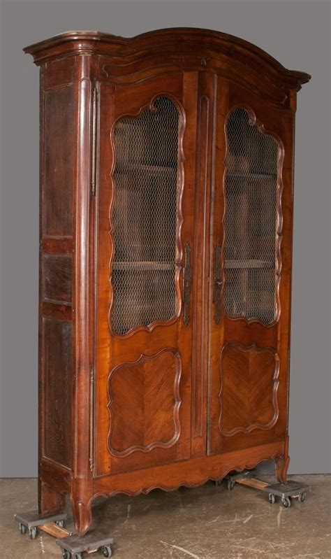 armoire cherry wood country french cherry wood armoire with arched top two door