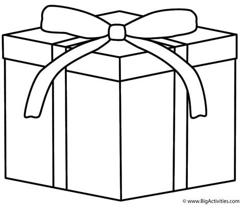 coloring page of christmas presents christmas gift coloring page christmas