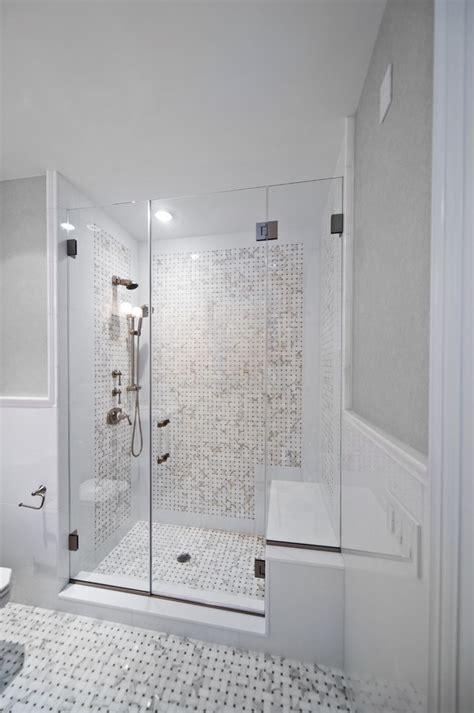 teak shower bench bathroom traditional  built  seat