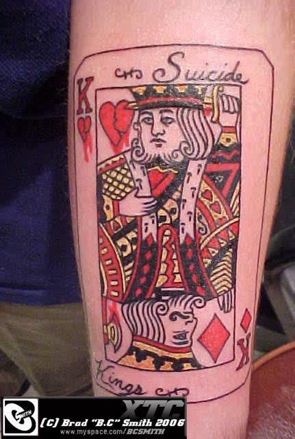 suicide king tattoo by alienheadboy on deviantart