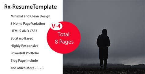 bootstrap templates for village rx resume bootstrap onepage parallax resume template by