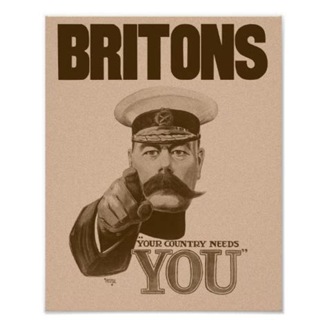 Lord Kitchener Poster Make Your Own britons your country needs you lord kitchener poster