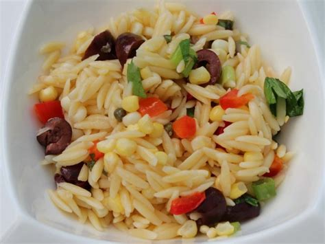 mediterranean style cuisine mediterranean style orzo salad with corn recipe food