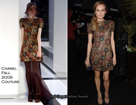 Catwalk To Carpet Diane Kruger In Chanel by Runway To Chanel Pre Oscar Diane Kruger In Chanel