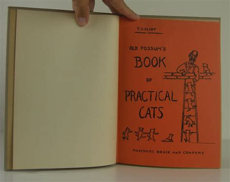 Possum S Book Of Practical Cats possum s book of practical cats by eliot t s harcourt brace company hardcover 1st