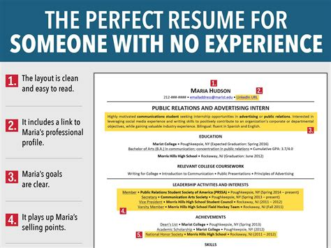 job resume example for college students template resume template