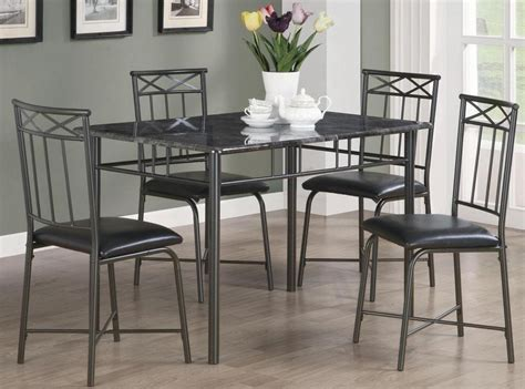 coaster 5 pc kimball collection contemporary style black dinettes black 5 pc dining set 150115 from coaster 150115