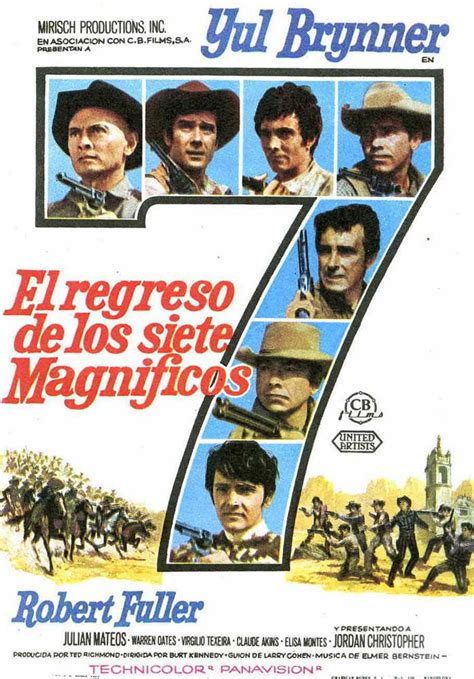 Watch Return Magnificent Seven 1966 Full Movie Return Of The Magnificent Seven 1966 Amazing Movie Posters