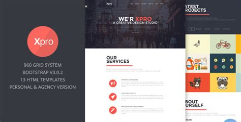 bootstrap layout modern xpro onepage multipurpose bootstrap html by themeelite