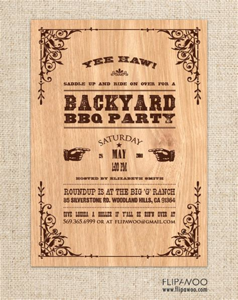 printable western wedding invitations free best photos of free printable western templates country