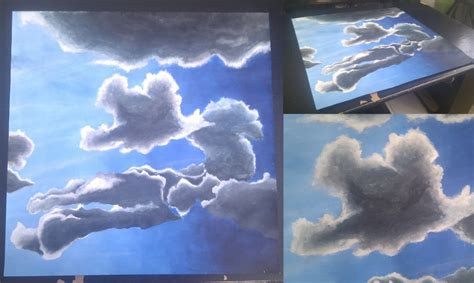 acrylic paint clouds clouds acrylic painting by rammoth on deviantart