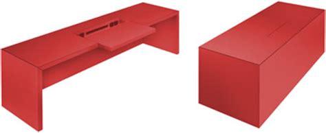Schreibtisch Rot Lack by Design Schreibtisch
