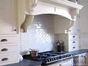 Swedish Kitchens designhaven herringbone backsplash