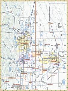 fort collins colorado city map fort collins colorado us