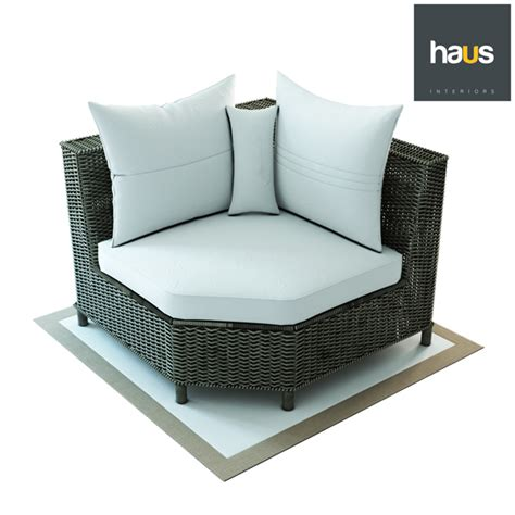 corner armchair haus interior corner armchair made of woven rattan by