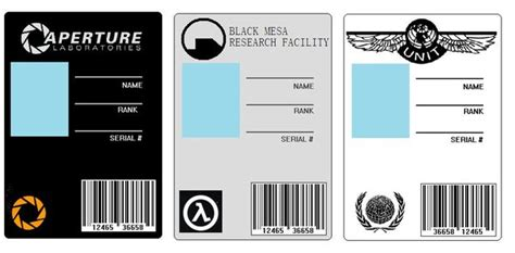 aperture science id card template id cards set 1 by badwolf42 on deviantart
