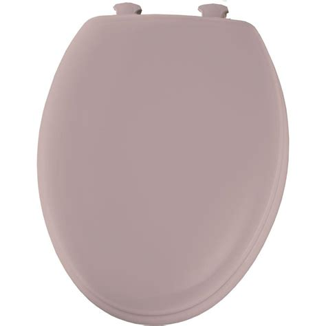 bemis elongated closed front toilet seat in pink 1450ec
