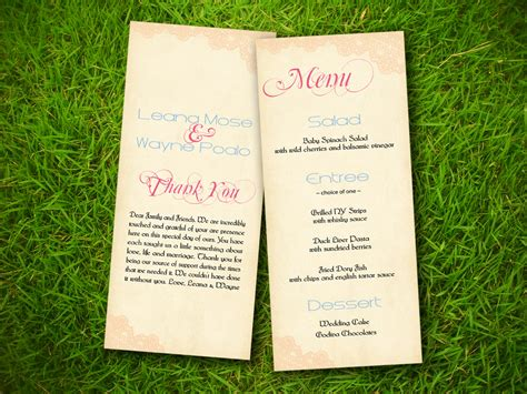 program card wedding template 8 best images of wedding program template free printable