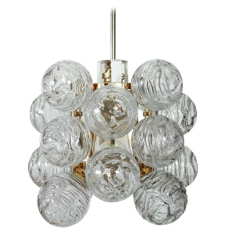 Glass Sphere Light Fixture Textured Glass Fixture By Doria Lighting Company At 1stdibs