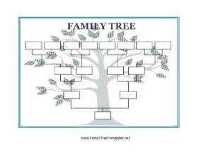 fill in the blank family tree template blank family tree template