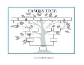 blank family tree template free printable blank family tree template
