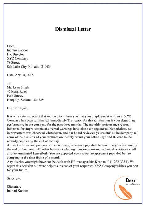termination letter format absconding employee letter
