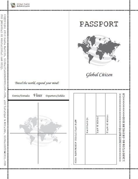 template of passport free printable passport book when image results the in me free
