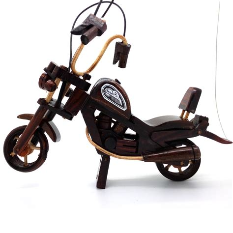 Miniatur Motor Kayu Vintage C jual miniatur motor harley davidson kayu 22x16x4 cm