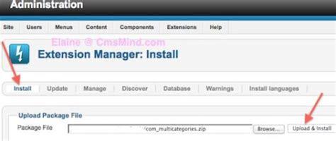 tutorial joomla component joomla 2 5 tutorial how to install a joomla component