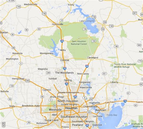 map of livingston texas lake livingston map images