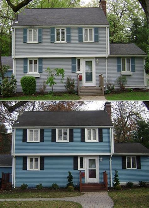 exterior house painting before and after images