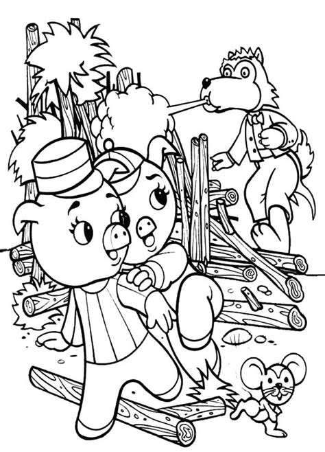 coloring pages big bad wolf three little pigs wolf coloring page